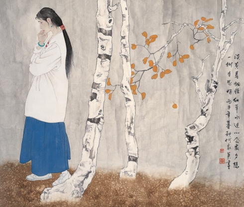 Painting by He Jiaying
