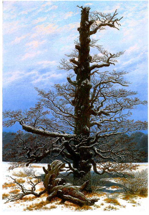 The Oaktree in the Snow (Caspar David Friedrich, 1829, oil on canvas)