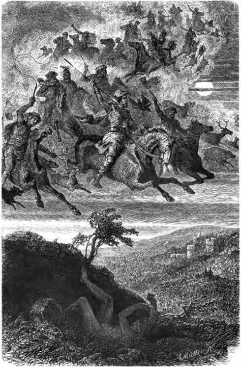 Wodan's Wilde Jagd (F. W. Heine, 1882, engraving)