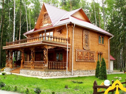 An ornate dacha