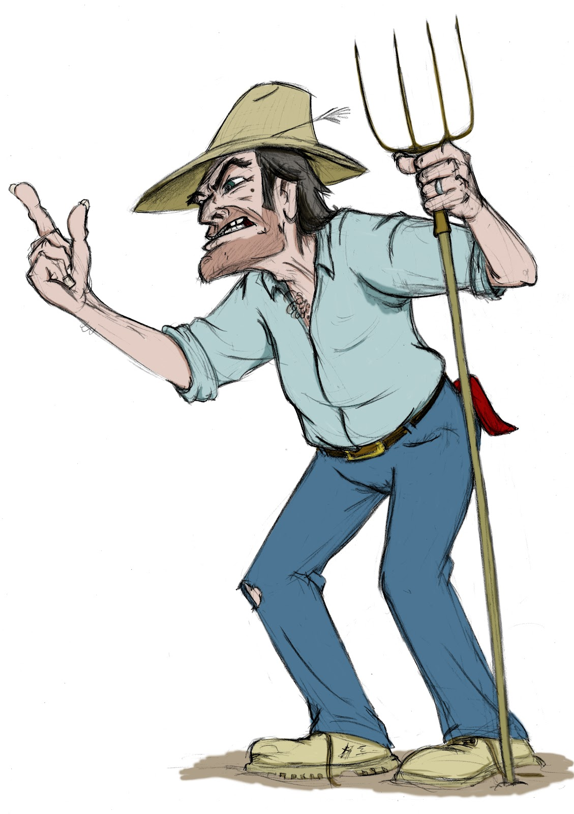 Angry Old Man Drawing farmer | ferreb...