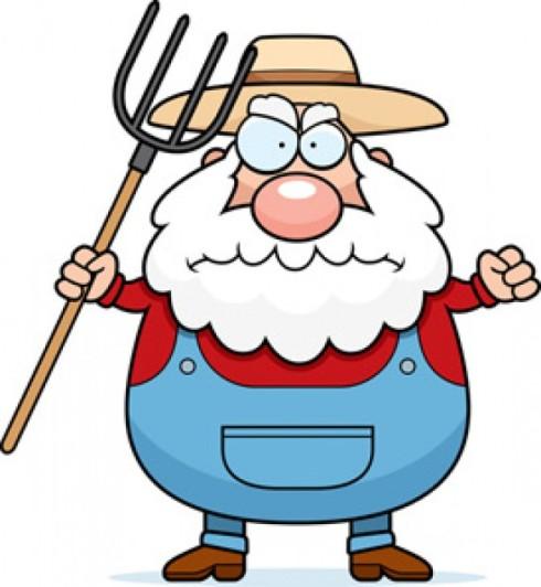 Old Farmer Mascot (mascotdesigngallery.com)