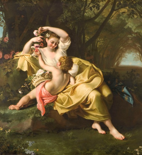 Allegory of Spring (Bartolomeo Guidobono circa 1705-1709)