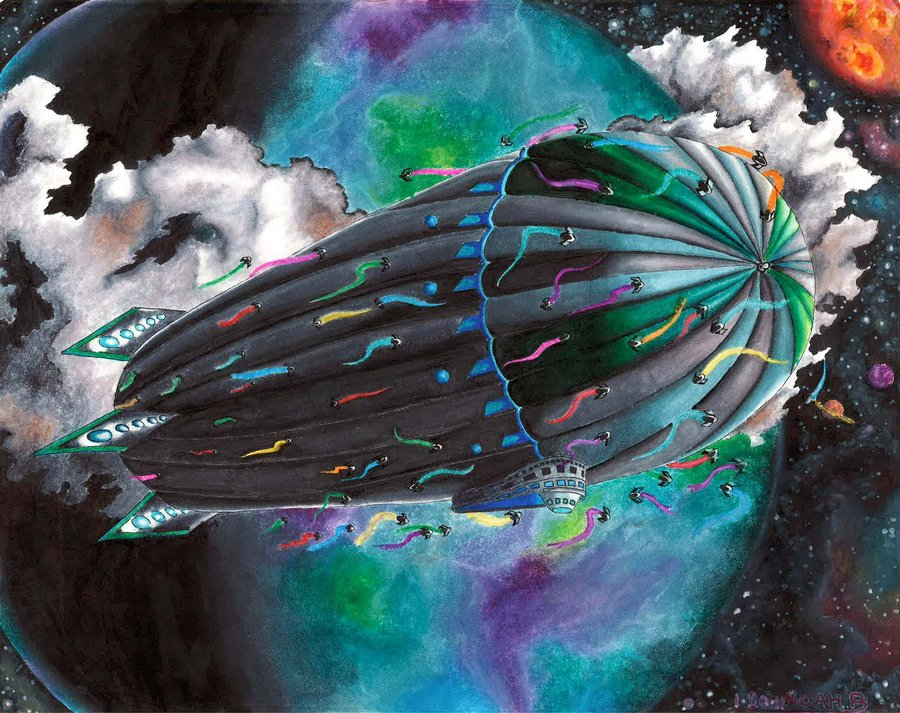 """""""Space Zeppelin"""" by Rugose."""
