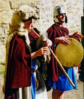 A modern interpretation of a Roman bagpipe (by David Marshall)