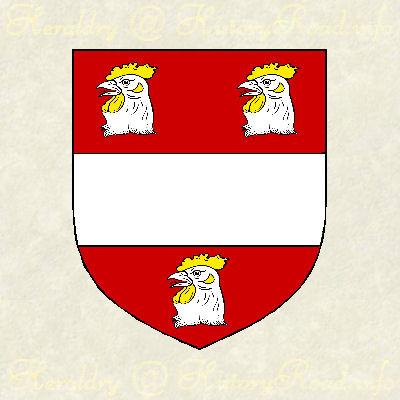 The arms of George Alcock of Roxbury, Massachusetts (ca. 1630)