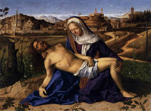 Pietà (Giovanni Beliini, 1505, oil on wood)