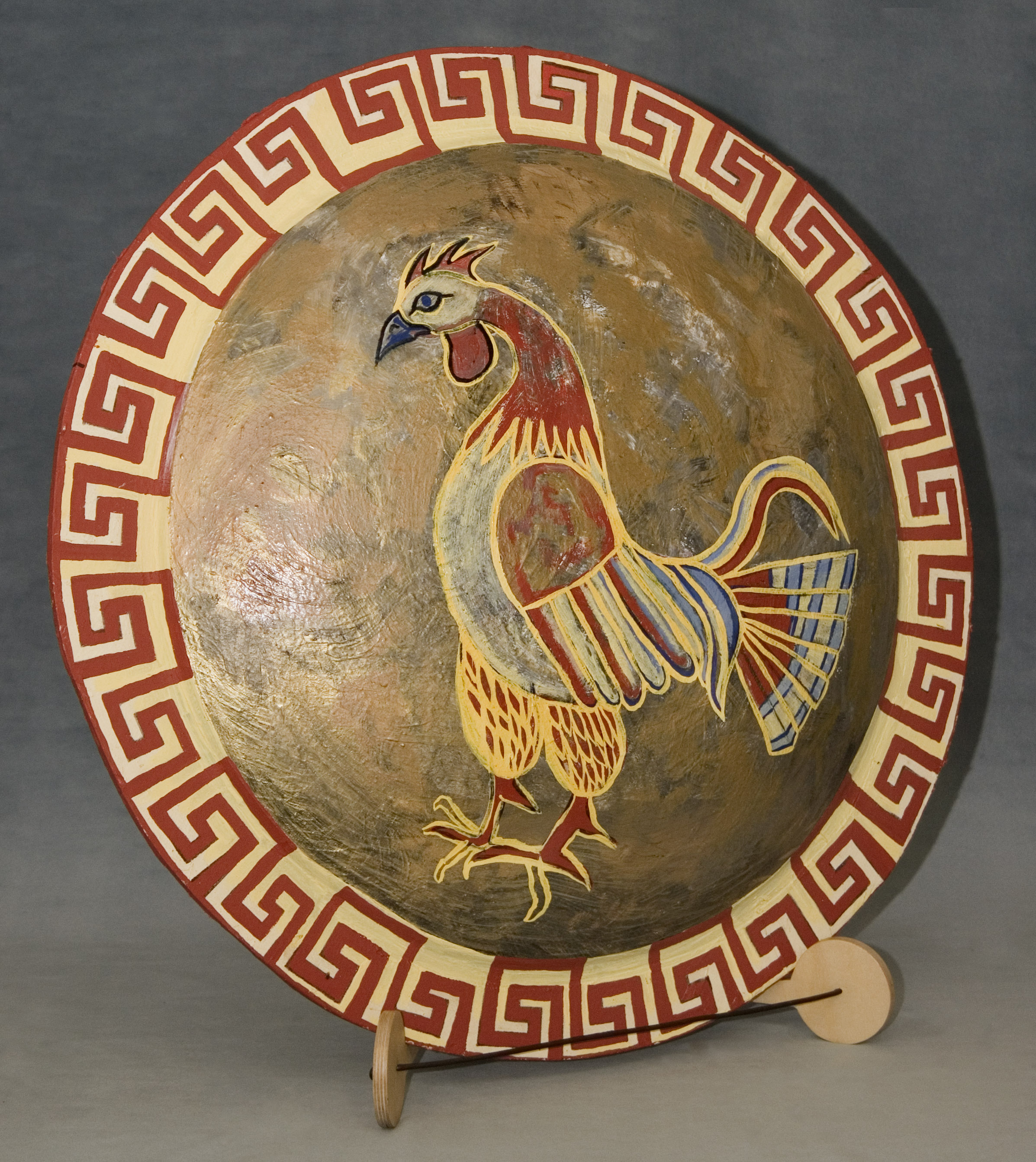 A Replica of an Ancient Greek Hoplite Shield