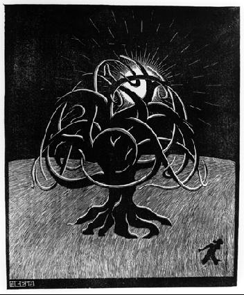 Tree (M.C. Escher, 1919 woodcut print)