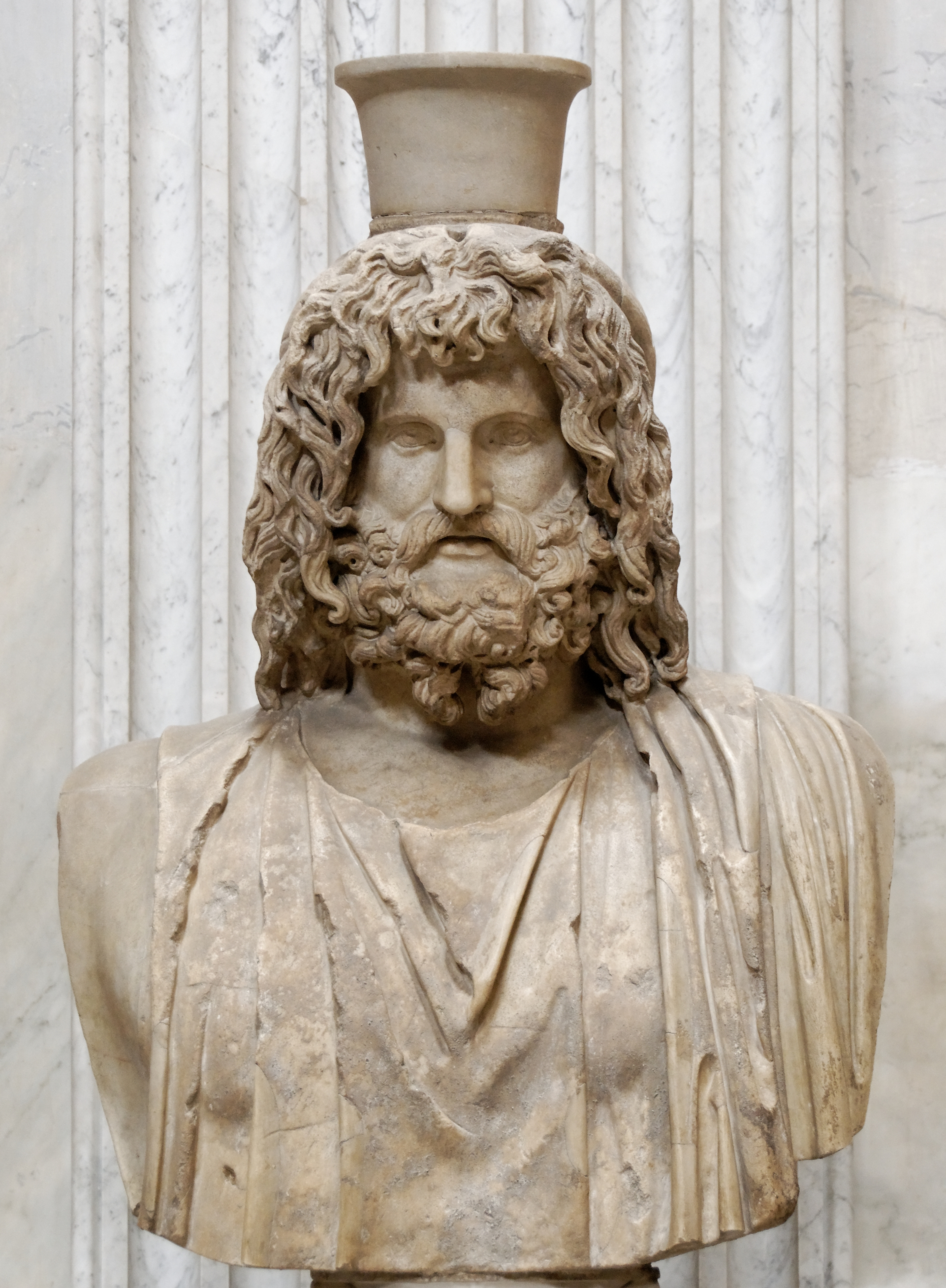 Bust of Serapis (Roman copy after a Greek original from the 4th century BC, stored in the Serapaeum of Alexandria)