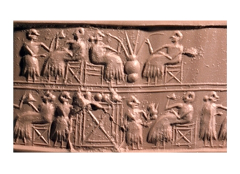 Image from an ancient Sumerian cylinder seal