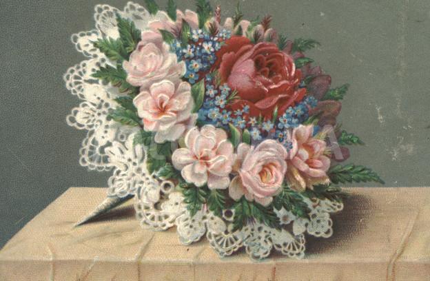 Victorian flower bouquet circa 1880