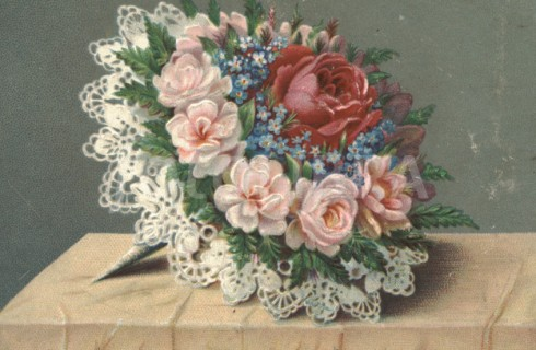 Victorian flower bouquet circa 1880