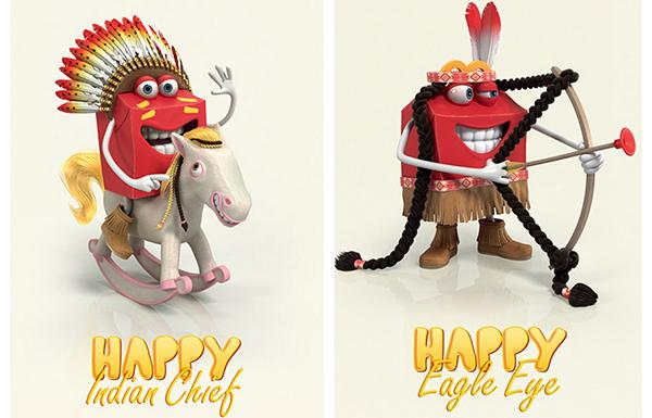 These forms of Happy never made it out of France: McDonald's does not need two mascot controversies at once