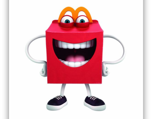 """Happy"" the Happy Meal (a fully owned, fully licensed creation of McDonald's)"