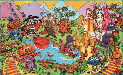 The McDonaldland Gang (from a 1973 book cover)