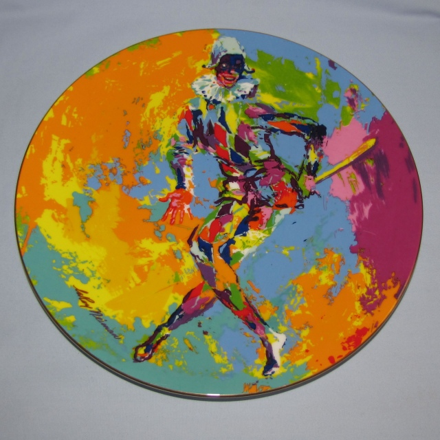 Royal Doulton Harlequin rack plate After an original work by LeRoy Neiman