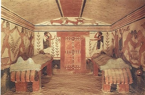 "Etruscan ""Tomb of the Lioness"" (ca.520 BC)"