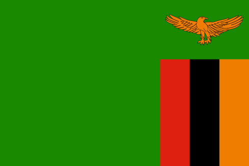 The current flag of Zambia