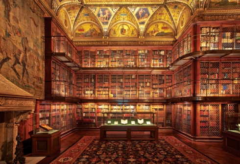 The Main Room of the Morgan Library in Manhattan