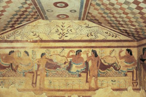 Tomb of the Leopards in Tarquinia, (ca. 480-470 BCE)