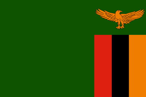 The Flag of Zambia from 1964-1996