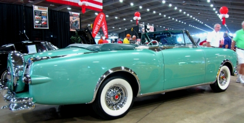 Is this Seafoam green 1954 Packard Convertible a hint?