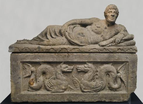 Etruscan sarcophagus from the Tarquinian tombs (Photo by Peggy Mekemson)