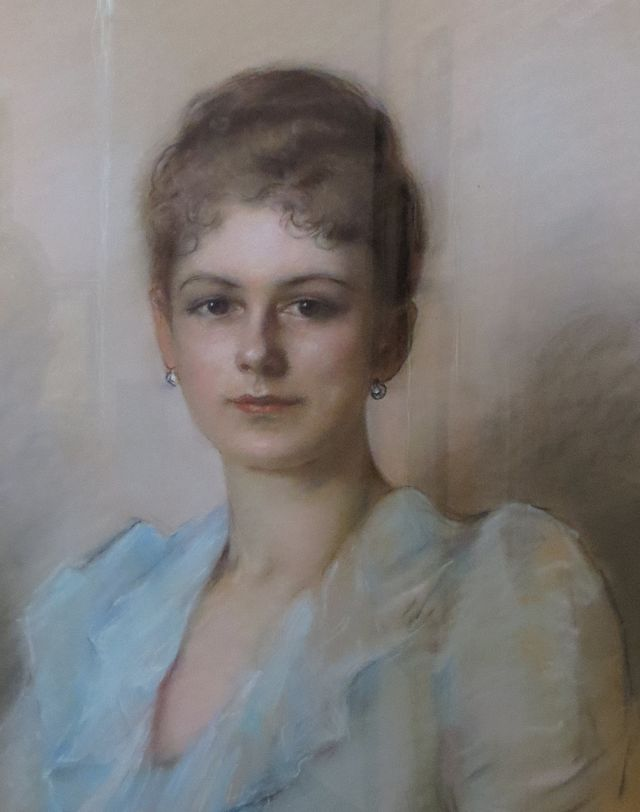 Pre-1900 pastel painting of Sophie, Duchess of Hohenberg held at Artstetten Castle Museum.