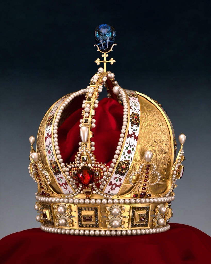 The Imperial Crown of the Austrian Empire. Schatzkammer. Vienna, Austria.