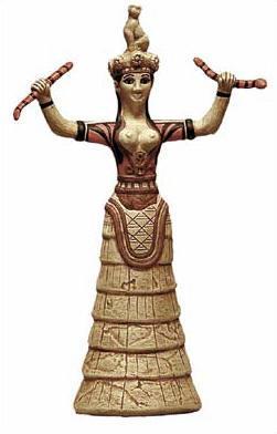 Minoan Snake Goddess (Crete, ca. 1600BC)