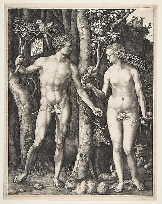 Adam and Eve (Albrecht Durer, 1504, engraving)
