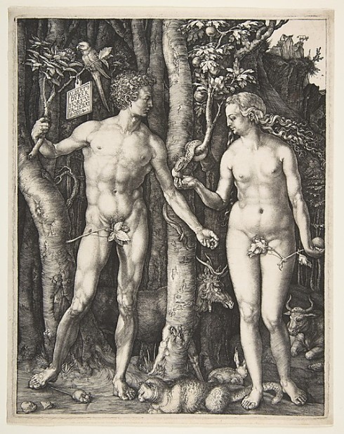 Adam and Eve (Albrecht Durer, 1504, engraving)