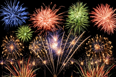 Fireworks-mulit-color