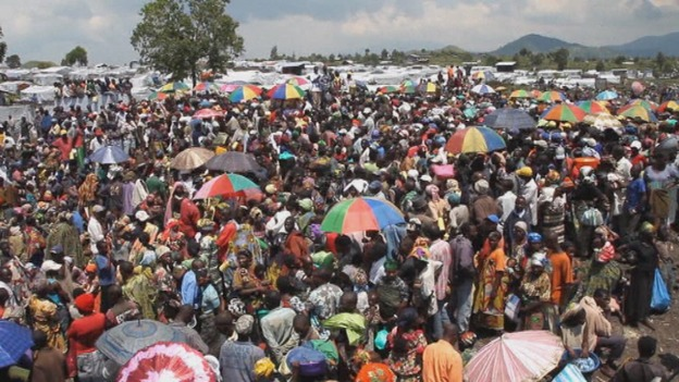 camp for internally displaced residents in the Democratic Republic of Congo