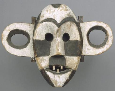 Mask, Boa, Late 19th/early 20th c., wood, kaolin, and pigment, Democratic Republic of the Congo.