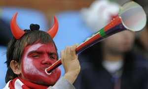 The vuvuzela being played by a lesser demon...