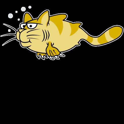 10x10Catfish CartoonBlk