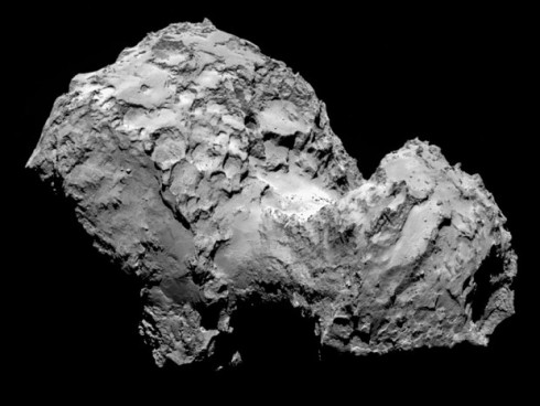 An August 3 photograph of Comet 67P/Churyumov-Gerasimenko taken by space probe Rosettas OSIRIS from a distance of 285 km (Photo: ESA/Rosetta)