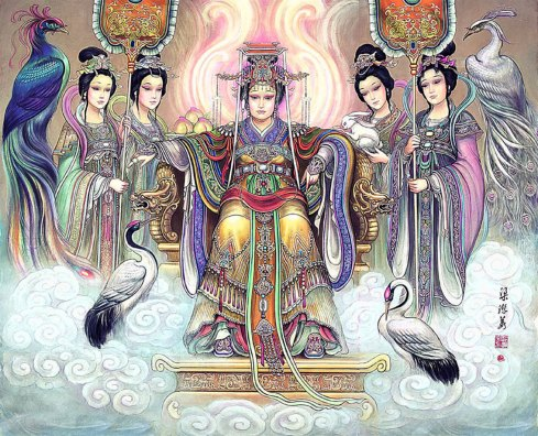 Queen Mother of the Western Heaven by artist Liang Yuanjiang