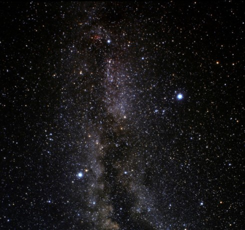 Altair (bottom left) and Deneb (middle right)