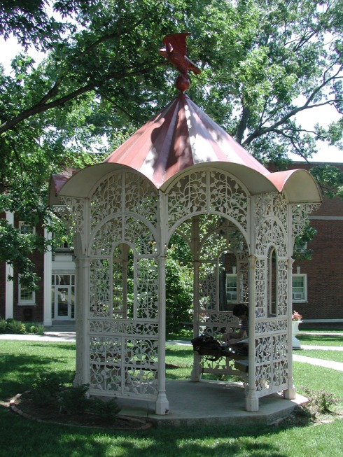 19th century cast iron collection (Morning Glory Gazebo with eagle), Belmont University-large