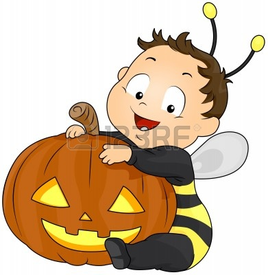 8268662-illustration-of-a-boy-in-a-bee-costume-hugging-a-jack-o-lantern