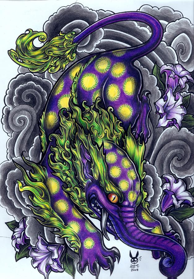 Baku (tattoo art by hiraistrange)