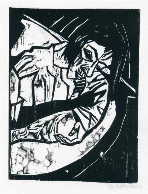 Woodcut (Erich Heckel, ca. 1925-1930, woodblock print)