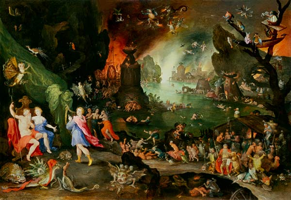 Orpheus with a Harp Playing to Pluto and Persephone in the Underworld (Jan Brueghel, 1594, oil on canvas)