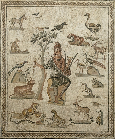 Orpheus with animals. (Roman mosaic ca. 200-250 AD)