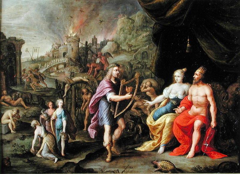 Orpheus in the Underworld (Ambrosius Francken the Elder, ca. 1600?, oil on canvas)