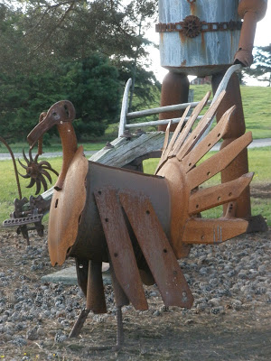 A metal turkey sculpture from Whidbey Island (via joyworks-shopgirl.blogspot.com)