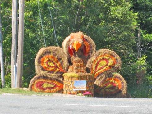 Turkey Hay Sculpture at Lookout Bar and Grill